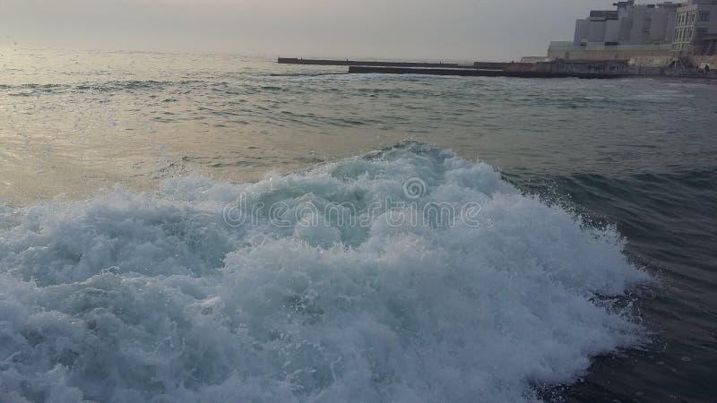 Fartygturer, som kommer med hälsa, ny luft på kusten royaltyfria bilder