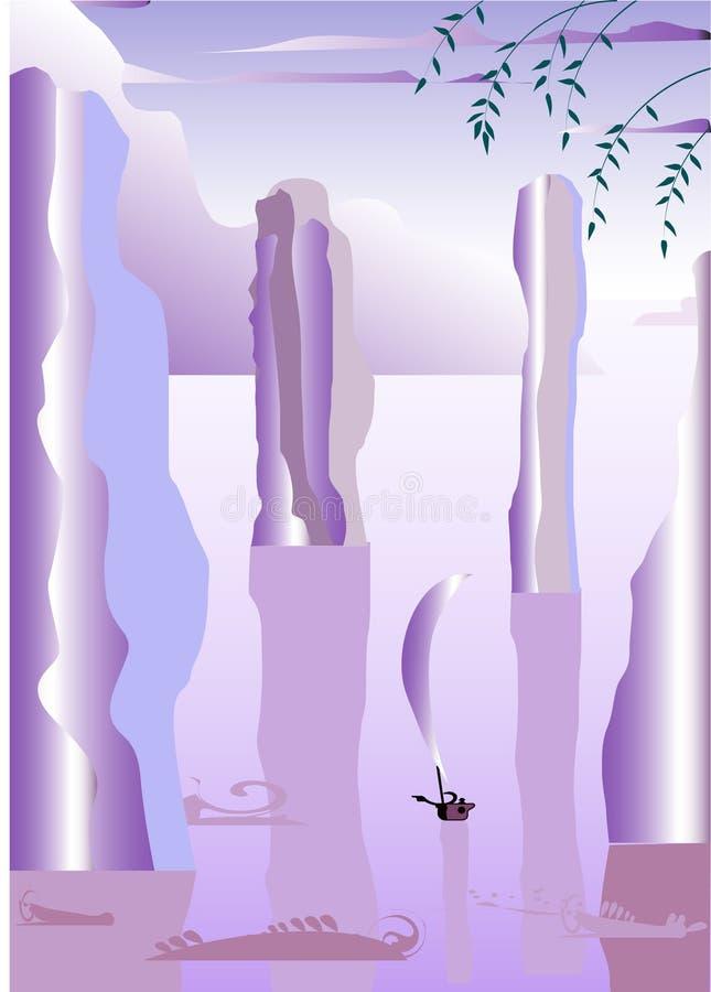 fartygvatten stock illustrationer
