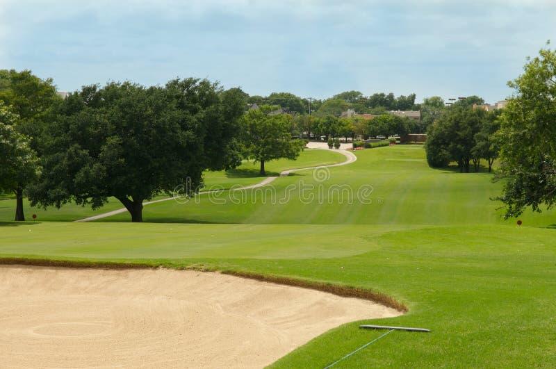 Farwateru i piaska golfowy bunkier zdjęcia stock
