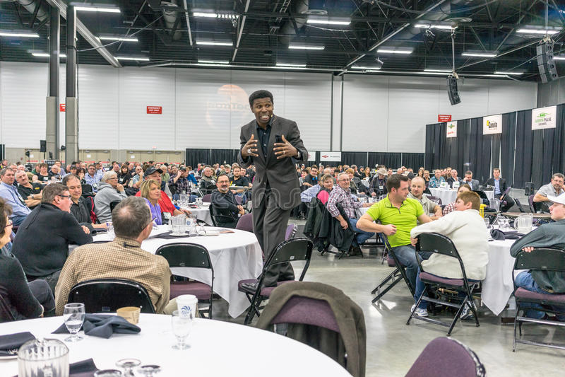 FarwTech Conference,Edmonton,2014 - Michael. Michael Pinball Clemons is keynote speaker at Farmtech Conference in Edmonton, Alberta, Canada. With boundless stock photos