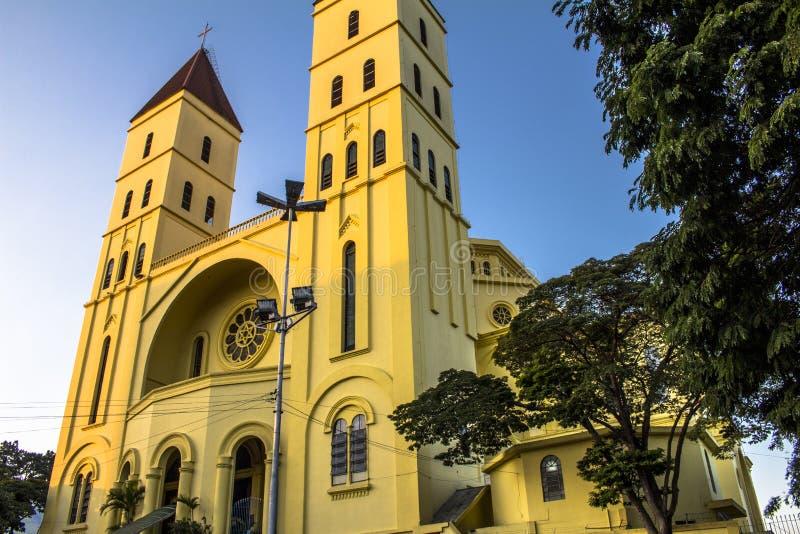 Fasad av basilikan av vår dam av Penha royaltyfria bilder