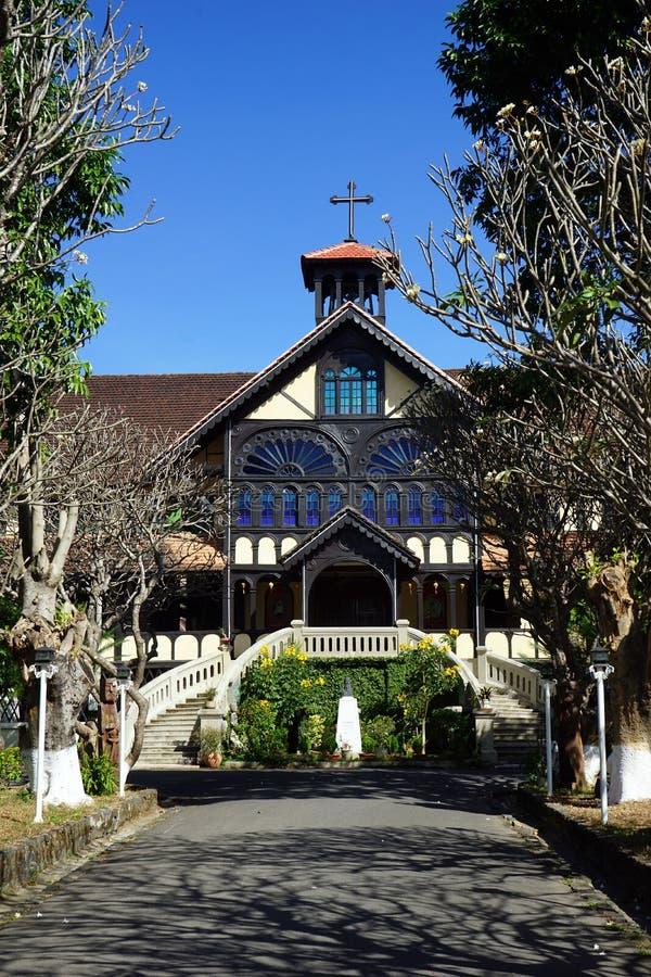 Fasad av byggnad för biskop` s arkivbild