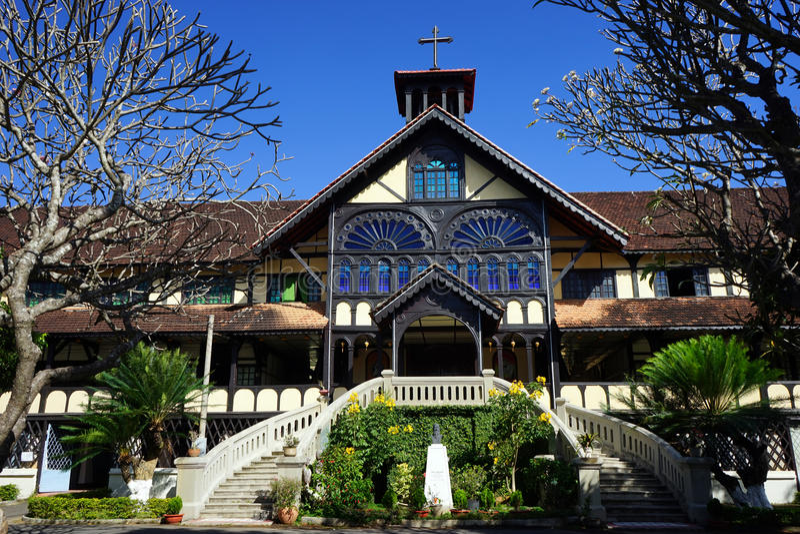 Fasad av byggnad för biskop` s arkivfoto