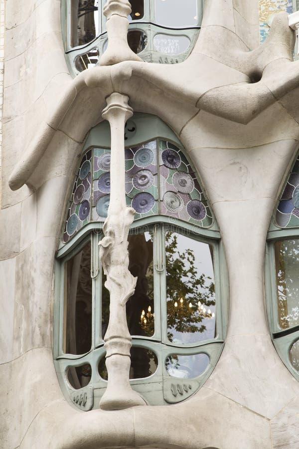 Fasad av casaen Batllo i Barcelona arkivfoton