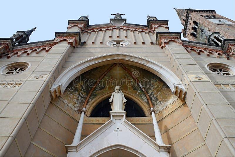 Fasad av churcen av St Lucy, Italien arkivfoton