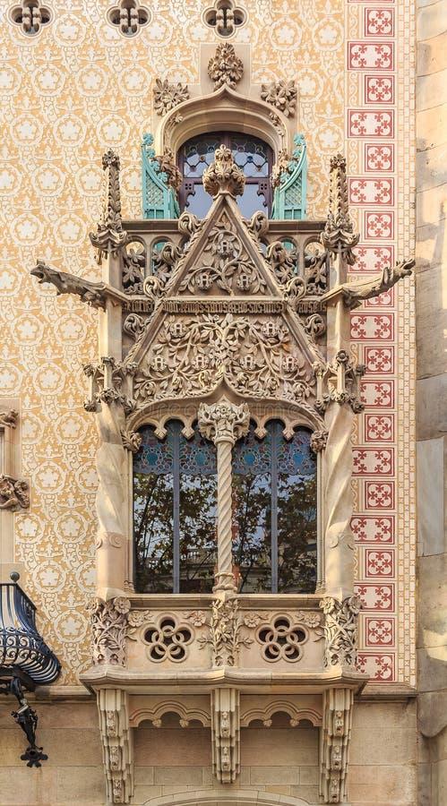 Fasad av den berömda casaen Amatller, byggnad som planläggs av Antoni royaltyfria foton