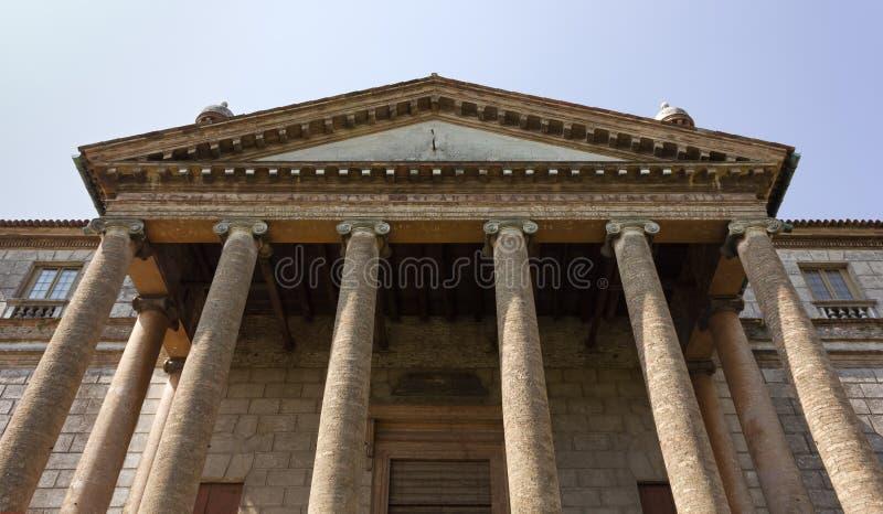 Fasad av den Palladian villan Foscari i Mira arkivfoto