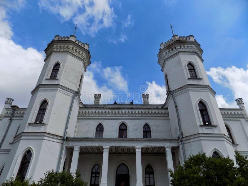 Fasad av den Sharovka slotten arkivbild