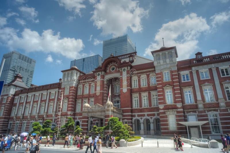 Fasad av den Tokyo stationen royaltyfri foto