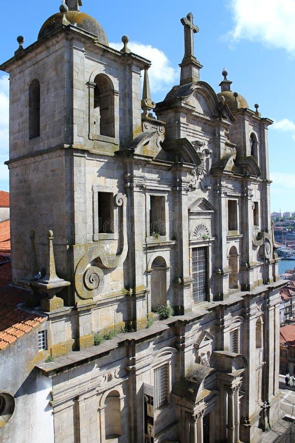 Fasad av Igreja DOS Grilos, Porto royaltyfri bild