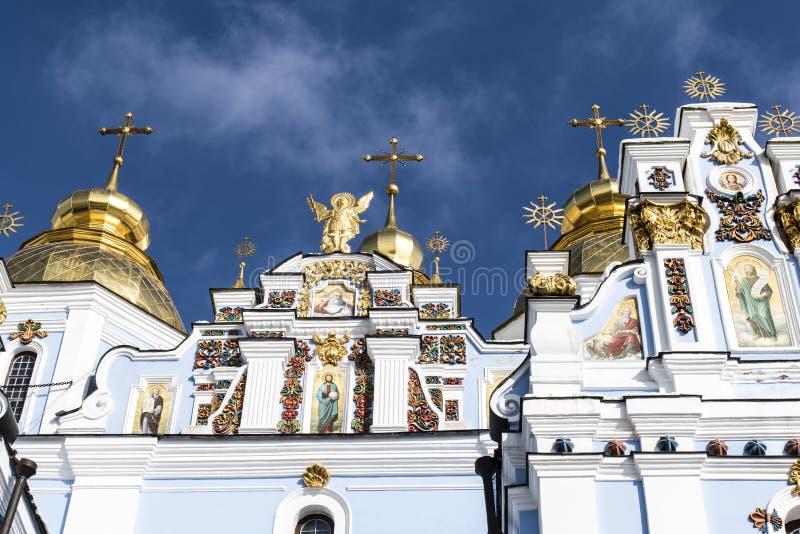 Fasad av kloster för St Michaels i Kyiv, Ukraina arkivfoto