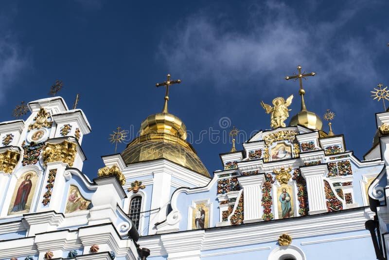 Fasad av kloster för St Michaels i Kyiv, Ukraina royaltyfria bilder