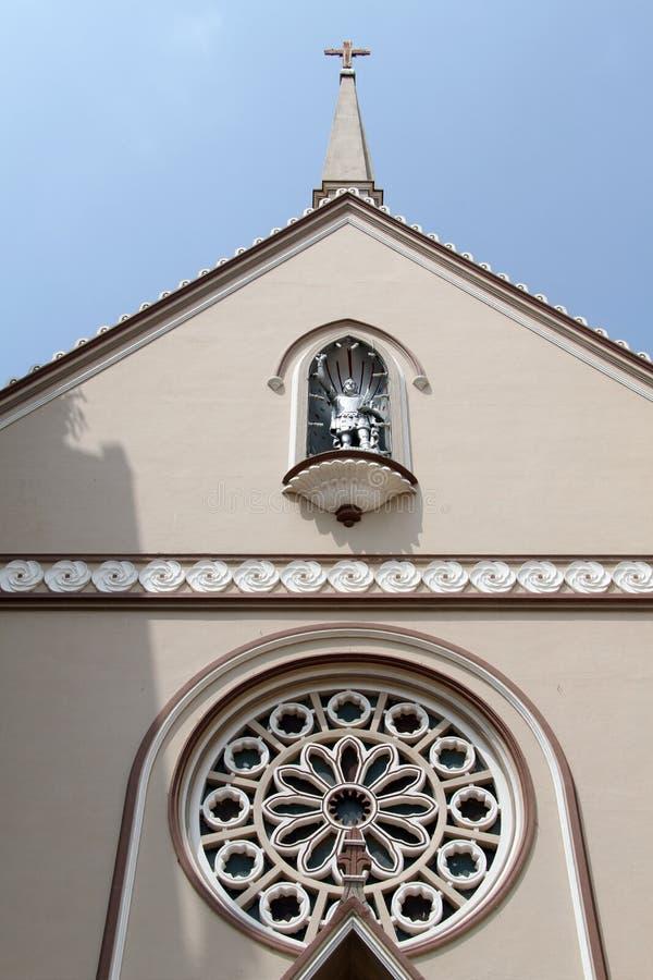 Fasad av kyrkan arkivbild
