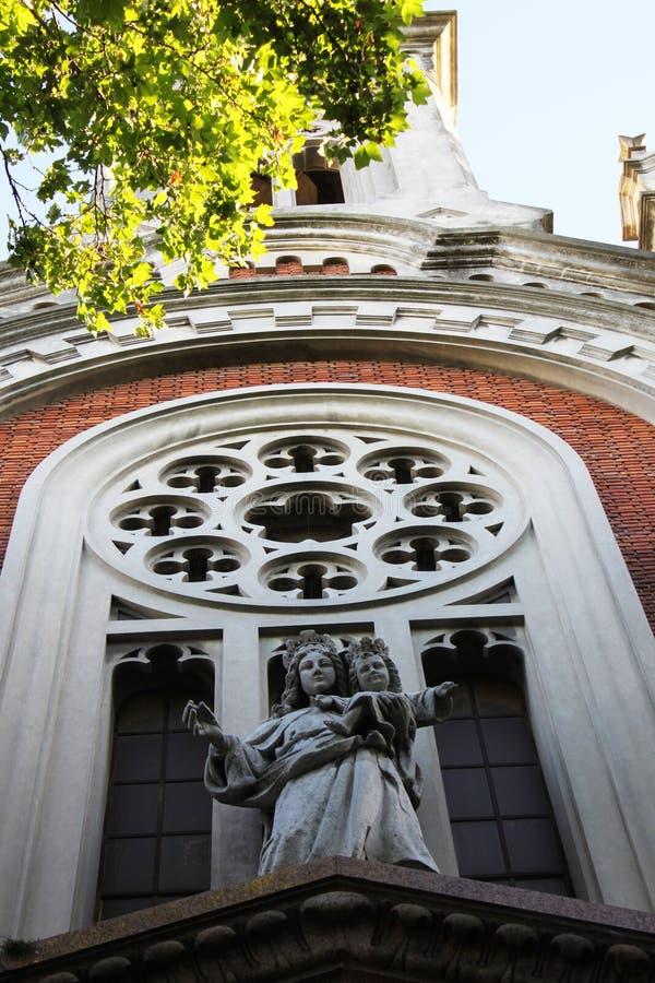 Fasad av kyrkan av Mary Help av kristen royaltyfri bild