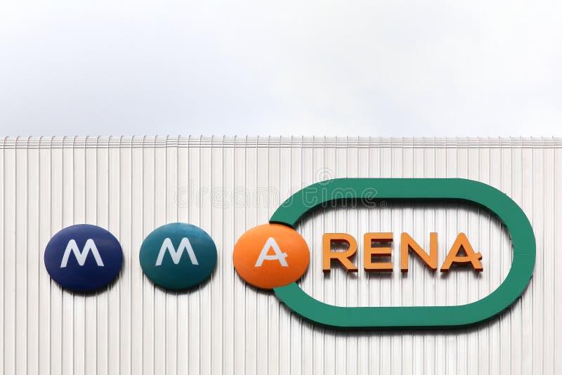 Fasad av MMArena i Le Mans, Frankrike arkivbilder