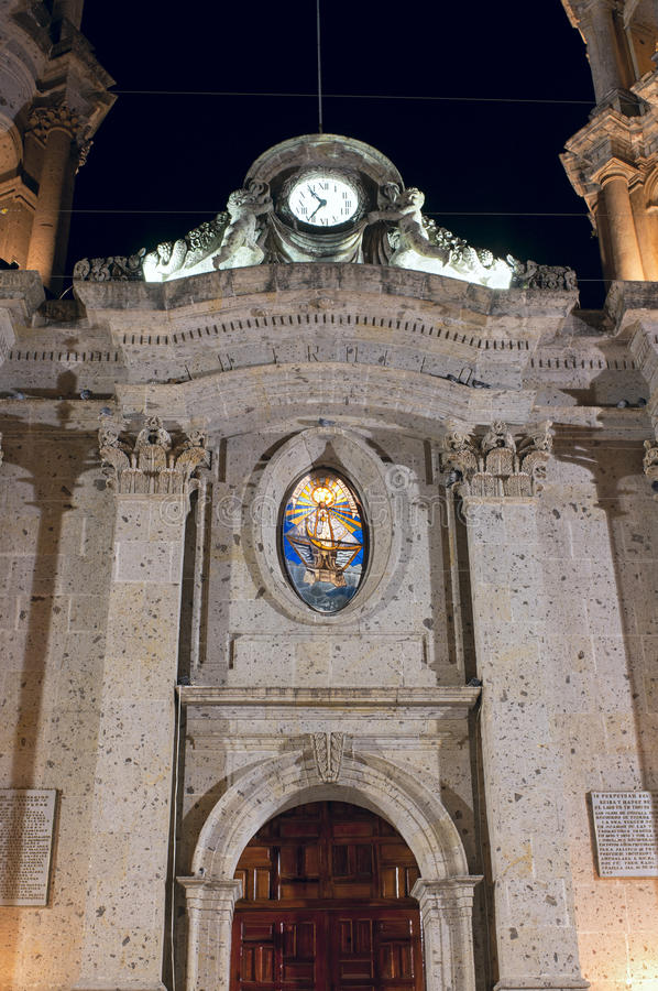 Fasad av San Francisco de Asis Church i Chapala arkivbilder