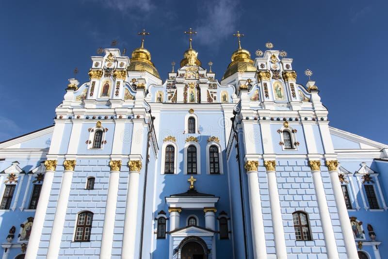 Fasad av Stets Michael kloster i Kiev, Ukraina arkivfoto