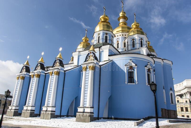 Fasad av Stets Michael kloster i Kiev, Ukraina royaltyfria bilder