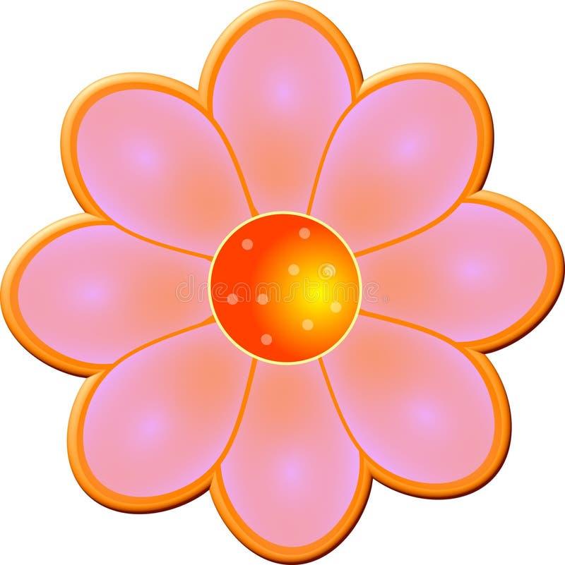 fasad blomma royaltyfri illustrationer