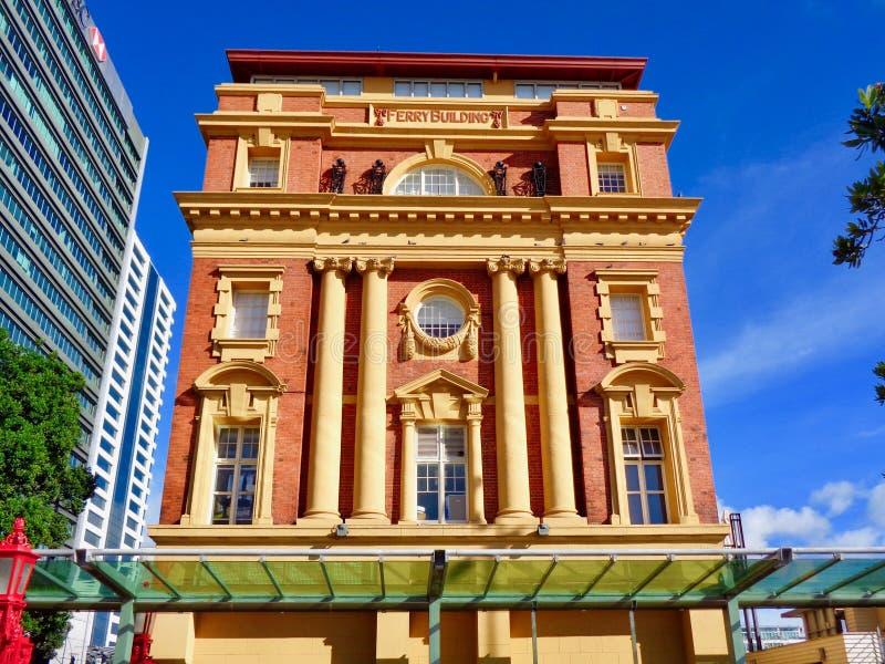 Fasad för Auckland färjabyggnad fotografering för bildbyråer