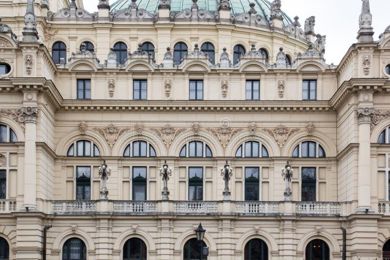 Fasad Juliusz Slowacki Theatre i Krakow royaltyfri bild