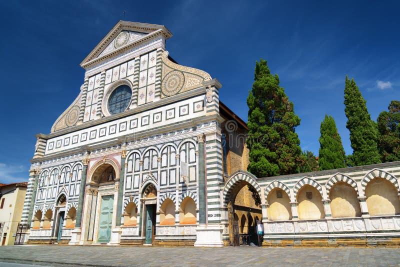 Fasada bazylika Santa Maria nowele w Florencja, Włochy obrazy stock