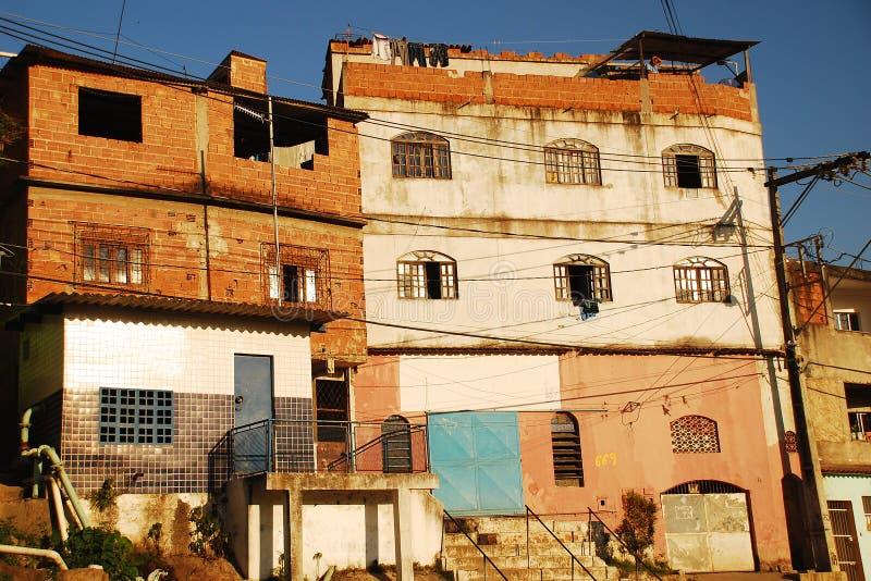 Fasada biedne sąsiedztwo w Brazil_02 fotografia stock