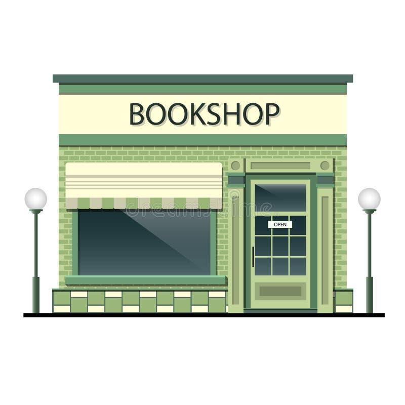 Fasada budynek z księgarnią ilustracja wektor