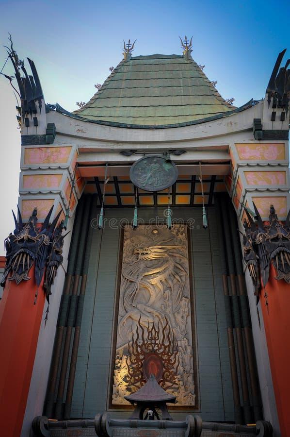 Fasada Chiński teatr w Los Angeles obrazy royalty free