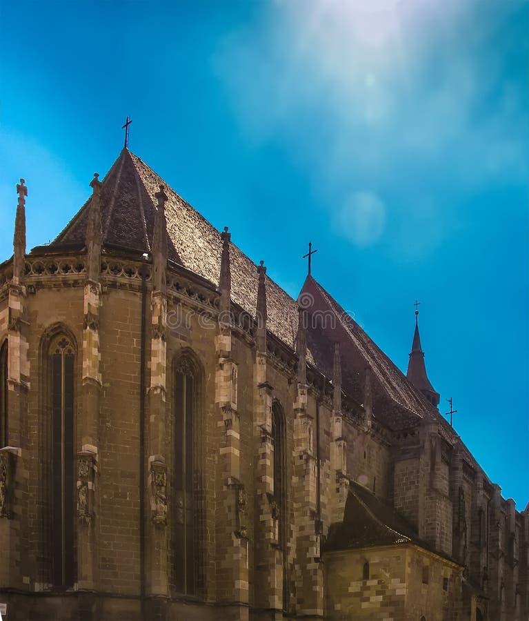 Fasada Czarny kościół obrazy stock