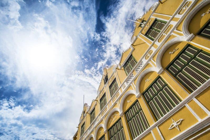 Fasada dziejowy buduje Punda Curacao fotografia royalty free