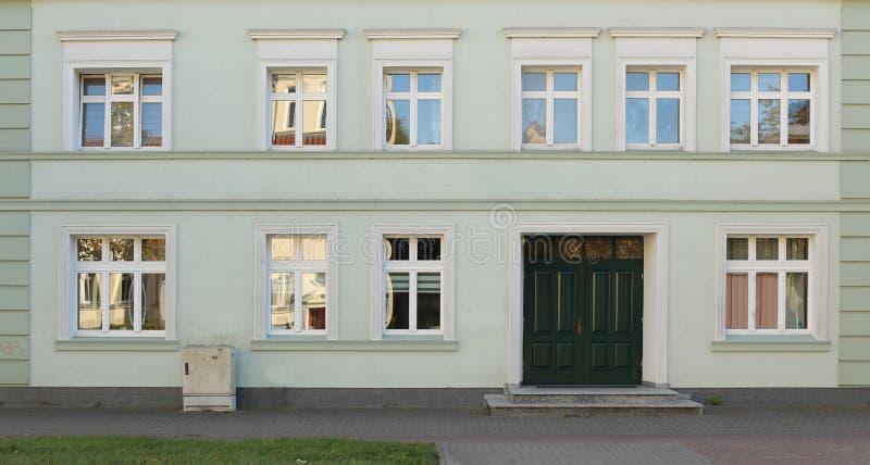 Fasada dziejowy dom w Greifswald, zachód Pomerania, Niemcy zdjęcia stock