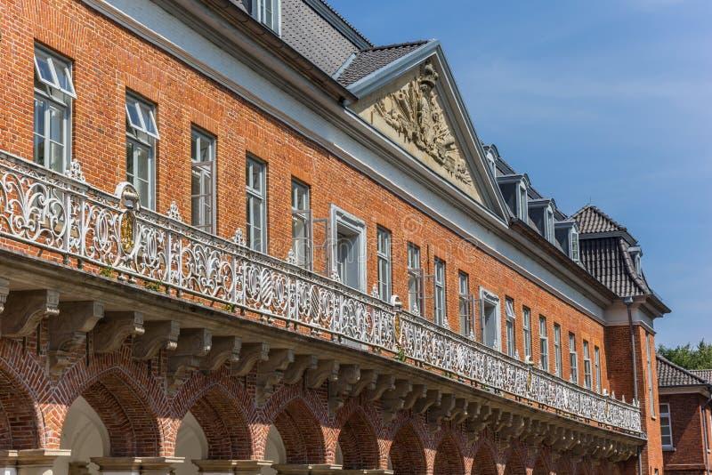 Fasada dziejowy Marstall budynek w Aurich fotografia royalty free