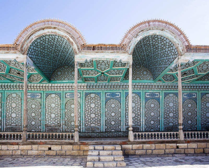 Fasada emira pałac Mohihosa w Bukhara, Uzbekistan, Środkowy Azja zdjęcia royalty free
