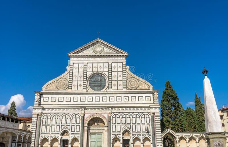 Fasada filaru Santa Maria Frontowe nowele Kościelny Florencja Włochy zdjęcia stock