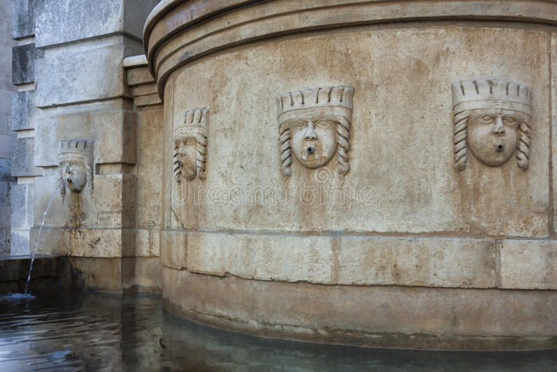 Fasada fontanna dedykował Ferdinand II w kwadracie ja obraz stock