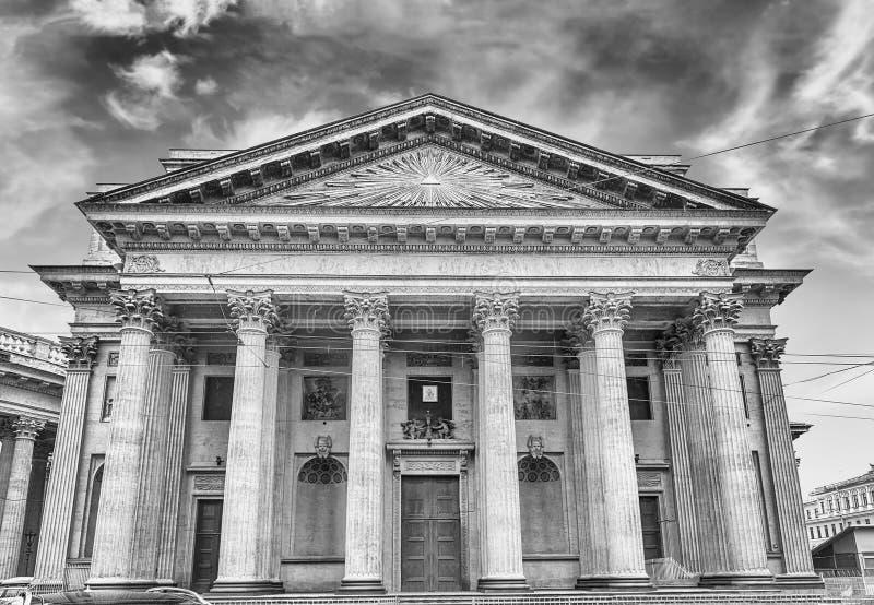 Fasada i kolumnada Kazan katedra w St Petersburg, Russi zdjęcie royalty free