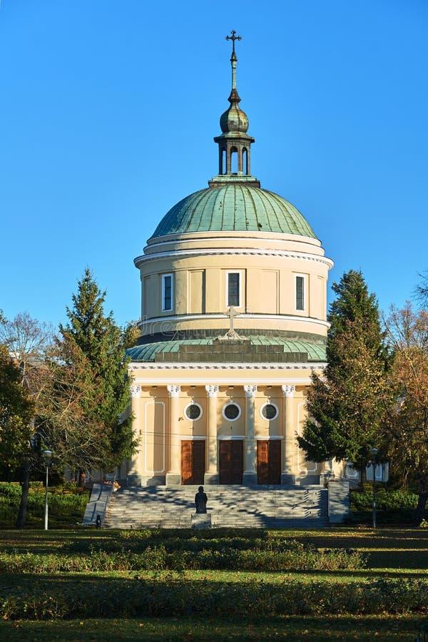Fasada i kopuła neoklasyczny kościół fotografia royalty free