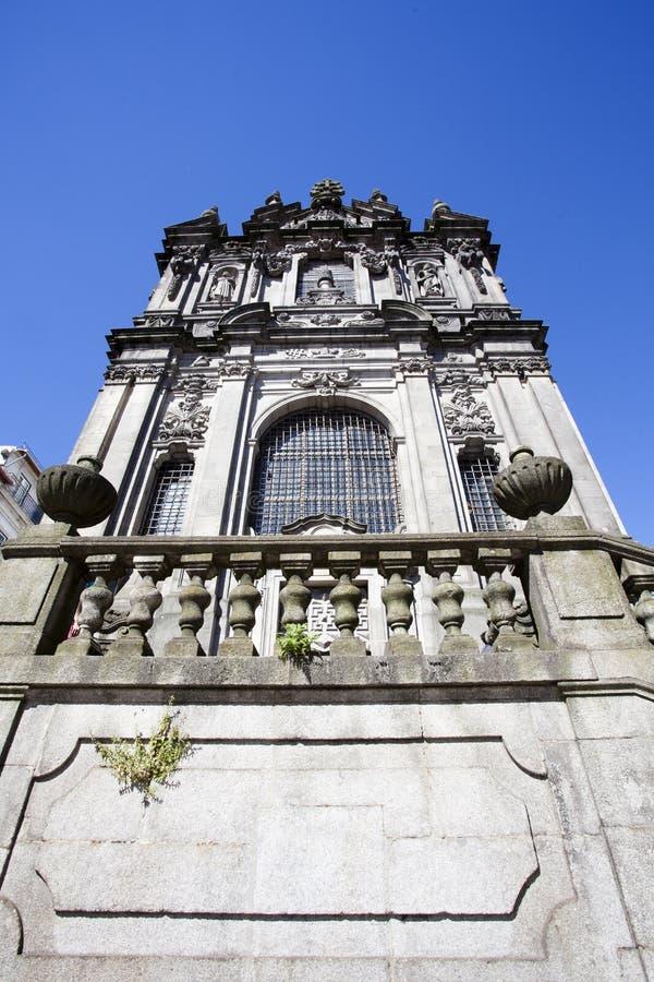 Fasada igreja dos Clerigos kościół w Porto, Północny Portugalia obraz royalty free