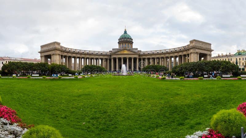 Fasada Kazan katedra w St Petersburg zdjęcie stock