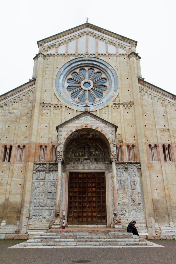 Fasada kościół w Verona Włochy 07 05,2017 obrazy stock