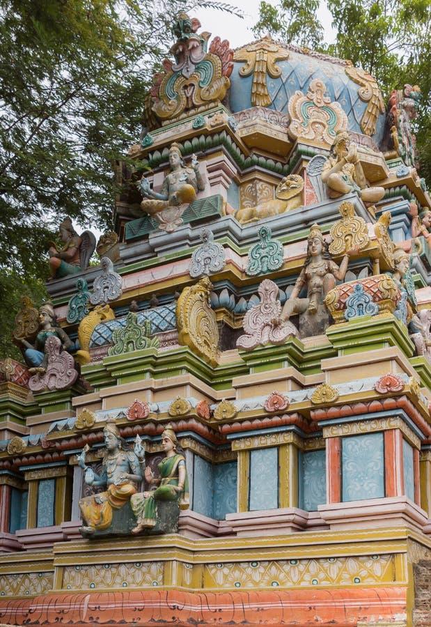 Fasada krótki Vimanam przy Shirangam świątynią obraz stock
