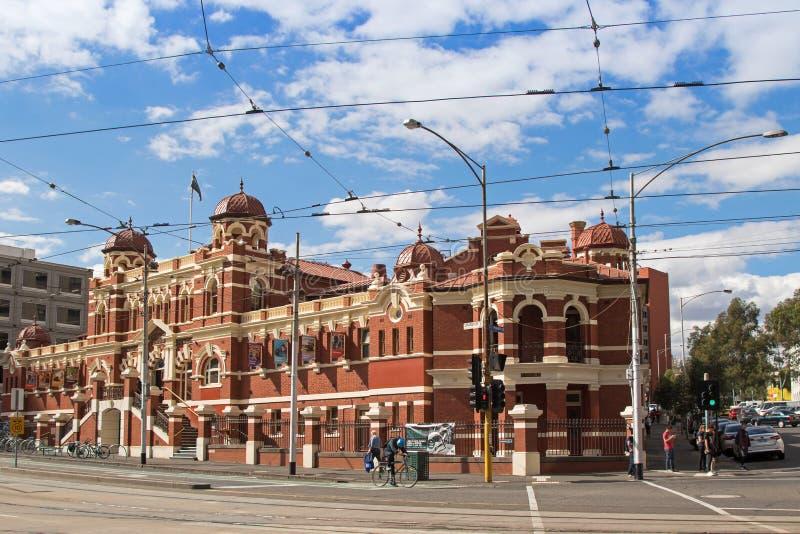 Fasada miasto Kąpać się budynek lokalizuje na Swanston ulicie w Mel fotografia royalty free