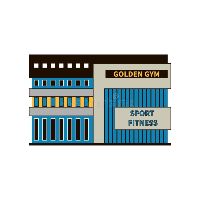 Fasada nowożytny gym klub sportowy lub budynek ilustracja wektor