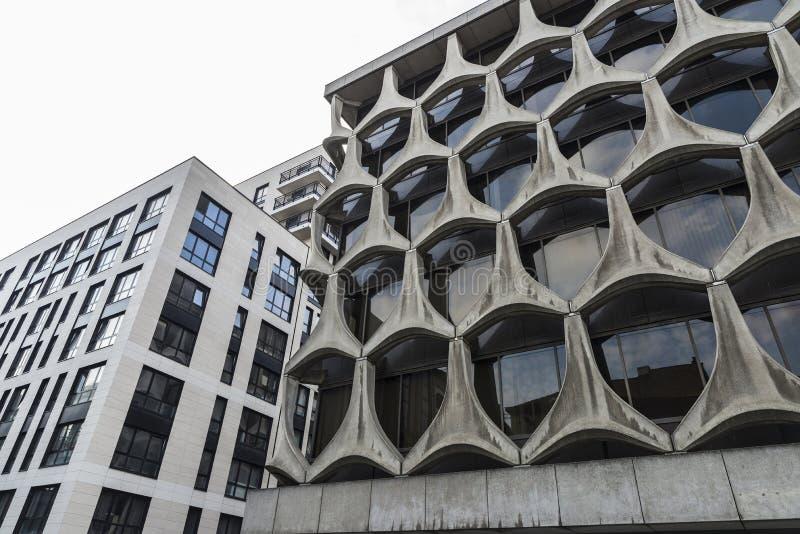 Fasada nowożytny budynek biurowy w Bruksela, Belgia zdjęcie stock