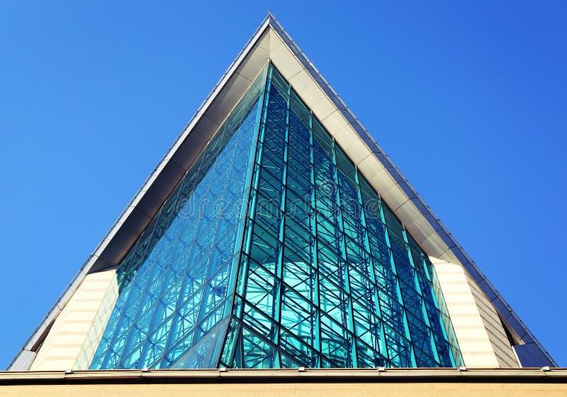 Fasada nowożytny budynek Xinghai filharmonia w GuangZhou mieście, Porcelanowy Azja fotografia stock