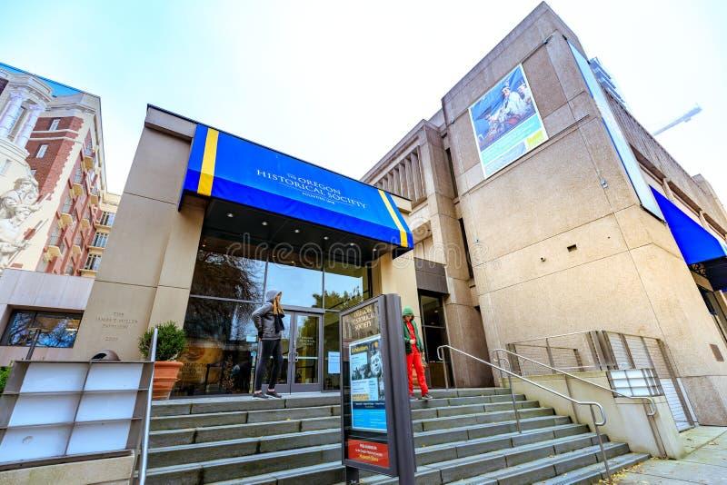 Fasada Oregon Dziejowego społeczeństwa muzeum, South Park bloki, P zdjęcia royalty free
