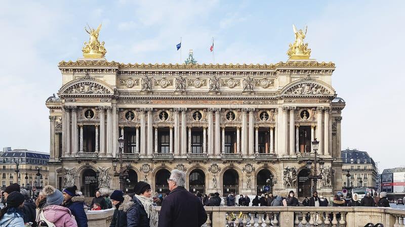 Fasada palais garnier Academie Nationale De Musique zdjęcia stock