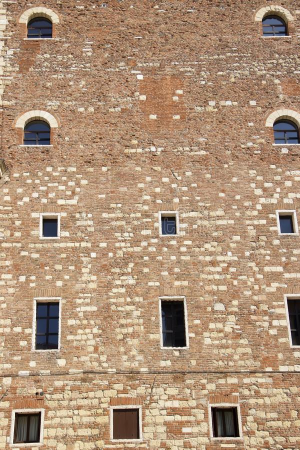 Fasada Palazzo Della Ragione w Verona zdjęcia royalty free