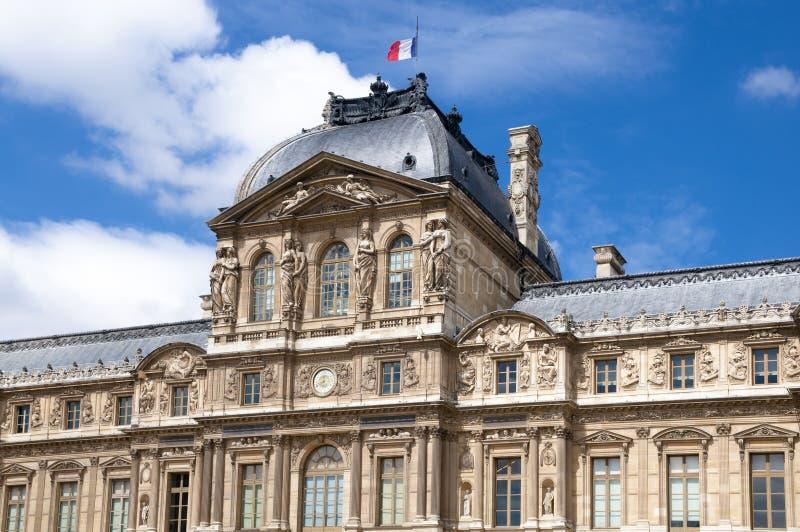 Fasada Paryski budynek w lecie Francja obraz stock